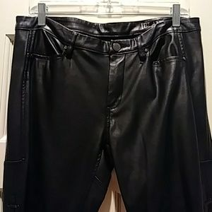 Blank NYC Button Fly Faux Leather Pants